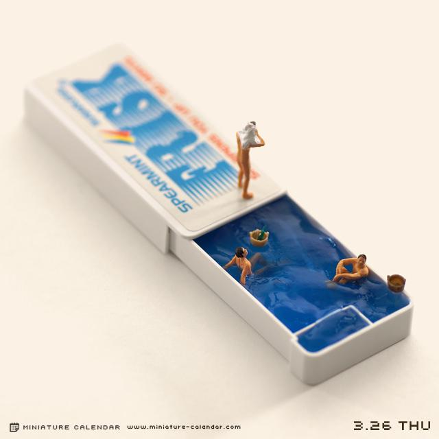 3月下 日本设计师田中达也tanaka_tatsuya生活小人模型日历精选
